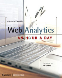 Book cover- Web Analytics: An Hour a Day by Avinash Kaushik